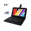 Housse clavier universelle tablette tactile 9 pouces USB support Noir - Housse tablette - www.yonis-shop.com