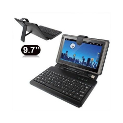 Housse clavier universelle tablette tactile 9.7 pouces support Noir - Housse tablette - www.yonis-shop.com