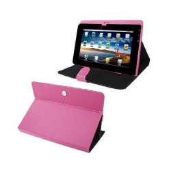 Housse universelle tablette tactile 10.1 pouces support étui Rose