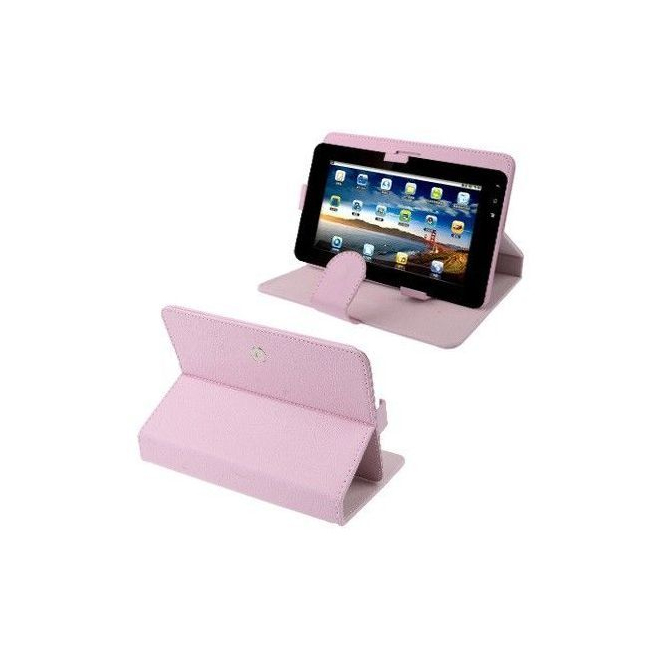 Housse universelle tablette tactile 9 pouces support étui Rose - Housse tablette - www.yonis-shop.com