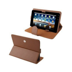 Housse universelle tablette tactile 9 pouces 360° support étui Marron
