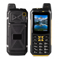 Téléphone Incassable Dual SIM Waterproof IP68 Telephone Solide Jaune