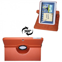 Housse Samsung Galaxy Tab 3 P5200 étui 10.1 pouces support 360° Orange