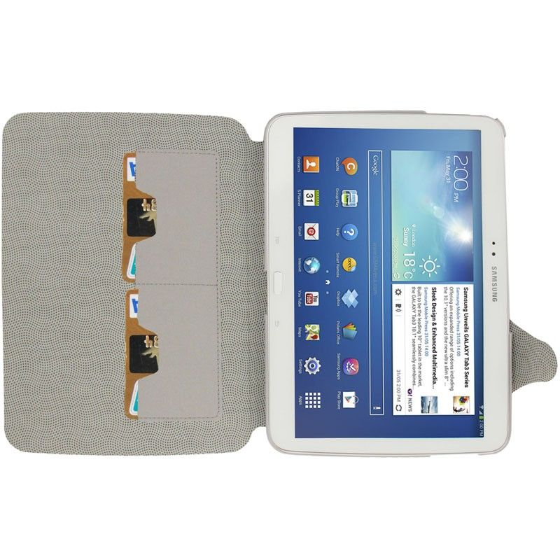 Housse samsung galaxy tab 3 p5200 tui cuir 10 1 pouces for Housse tablette samsung