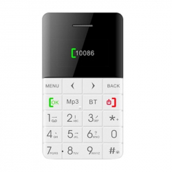 Mini Telephone Portable FM Micro Smartphone Bluetooth Carte Micro SD Blanc