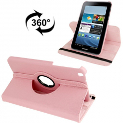Housse Samsung Galaxy Tab 3 SM T3100 8 pouces support 360° Rose Clair