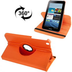 Housse Samsung Galaxy Tab 3 SM T3100 étui 8 pouces support 360° Orange