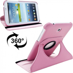 Housse Samsung Galaxy Tab 3 P3200 7 pouces support 360° Rose Clair