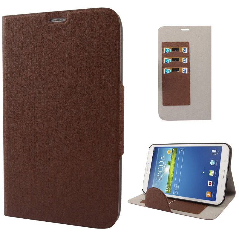 housse samsung galaxy tab 3 sm t3100 tui 8 pouces fin marron. Black Bedroom Furniture Sets. Home Design Ideas