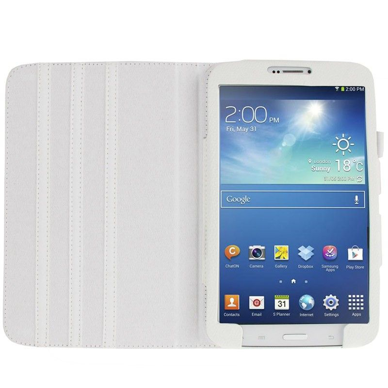 housse samsung galaxy tab 3 sm t3100 tui 8 pouces cuir blanc. Black Bedroom Furniture Sets. Home Design Ideas