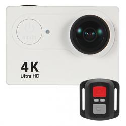 Caméra sport embarquée WiFi 4K HDMI Ecran 2 pouces Grand Angle 170° 12MP Blanc
