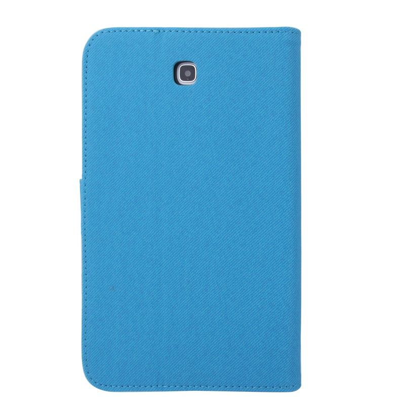 Housse samsung galaxy tab 3 gt p3200 tui 7 pouces tissu bleu for Housse tablette samsung