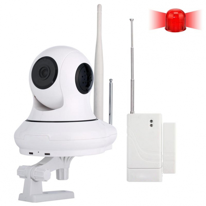 Caméra de Surveillance Infrarouge Compatible iOS Android HD 720p 1,0 MP Wifi IR 10 Mètres - Camera IP - www.yonis-shop.com
