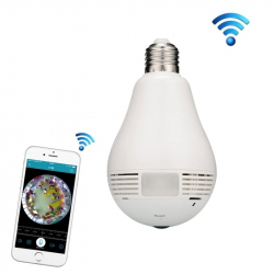 Ampoule Caméra Espion HD WIFI P2P Grand Angle 185° iOS 360° - Camera IP - www.yonis-shop.com