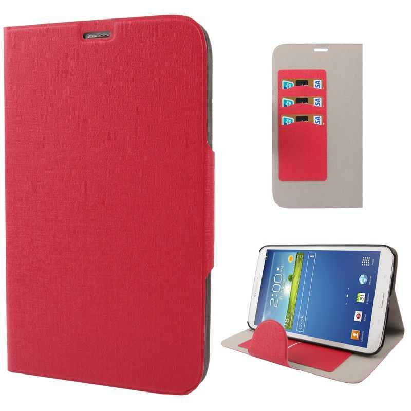 Housse samsung galaxy tab 3 sm t3100 tui 8 pouces fin rouge for Housse tablette samsung