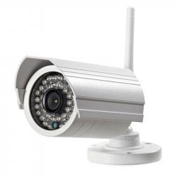 Caméra IP Sans Fil Compatible Android Windows OS Vision Nocturne Alarme IP66 CMOS 1080p Détection Mouvement Blanche