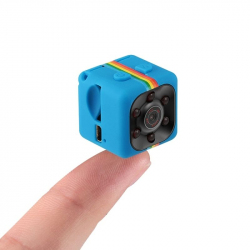 Mini Camera Full HD 1080p Vision Nocturne Detecteur de Mouvement LED IR Micro SD Bleu