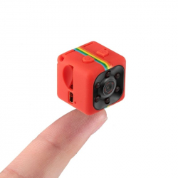 Micro Camera Vision Nocturne Infrarouge Vidéo 1080p Detection de Mouvement Micro SD Rouge
