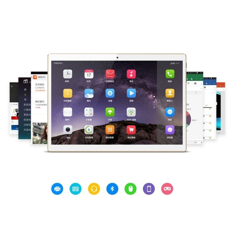 tablette 10 pouces android 7 0 4g octa core bluetooth 32 go or