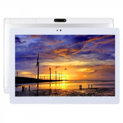 Tablette Tactile Android 7.0 Multimédia 10.1 Pouces 4G MTK6753 Octa Core 1,3 GHz Dual SIM GPS Argent - Tablette tactile 10 po...