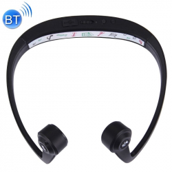 Casque Bluetooth V4.1 Mains Libres Compatible Mobiles Ordinateurs Conduction Voix HD Réduction Bruit Noir - Casque audio - ww...