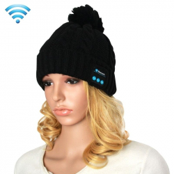 Bonnet Bluetooth iPhone Android Casque Sans Fil Musique Appels Noir - Bonnet Bluetooth - www.yonis-shop.com