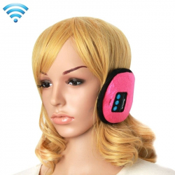 Cache-Oreilles Bluetooth Ecouteur sans Fil Connecté Smartphone Kit mains libres Rose - Bonnet Bluetooth - www.yonis-shop.com