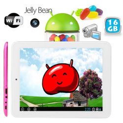 Tablette tactile Android 8 pouces HDMI USB 16 Go Rose