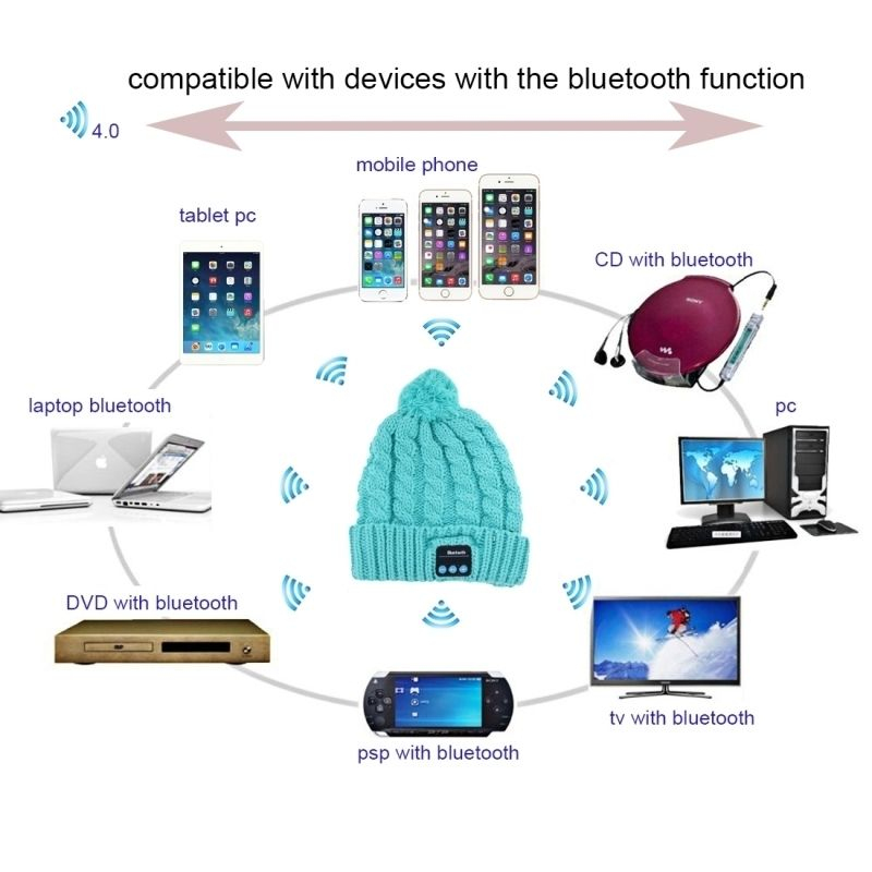 bonnet bluetooth compatible android iphone ecouteur sans. Black Bedroom Furniture Sets. Home Design Ideas
