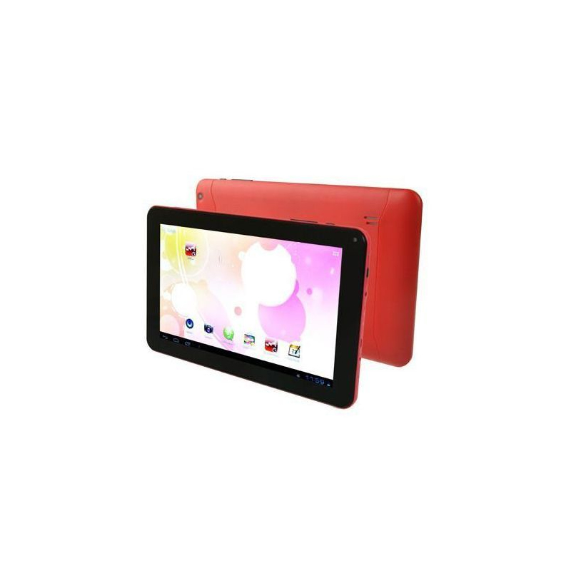 tablette tactile 10 pouces android 4 4 kitkat quad core 16 go rouge. Black Bedroom Furniture Sets. Home Design Ideas