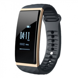 Smartwatch iPhone Android Bracelet Sport Réveil Podomètre SMS IP65 Or - Bracelet connecté - www.yonis-shop.com