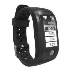 Montre Connectée GPS Bluetooth Cardio Étanche IP68 Professionnel Système Analyse Natation Noir