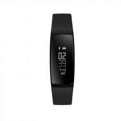 Bracelet Sport Android iOS Montre Connectée IP67 Sport Calories Noir - Bracelet connecté - www.yonis-shop.com