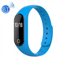 Bracelet Cardio iPhone Android Montre Connectée Sport Waterproof Bleu