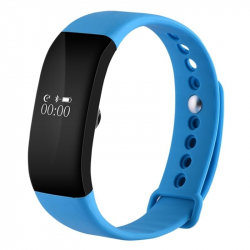 Bracelet Cardio Android iPhone Montre Connectée BT Podomètre Bleu