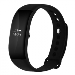 Smart Watch iOS Android Bracelet Connecté Bluetooth OLED Appels Noir