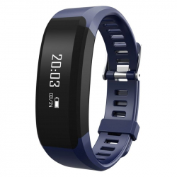 Smart Watch Android iPhone Montre Connectée BT IP65 Calories Bleu