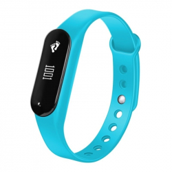 Bracelet Sport iOS Android Montre Connectée IP65 Bluetooth 4.0 Appel Cardio Bleu