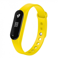 Bracelet Sport iOS Android Montre Connectée IP65 Bluetooth 4.0 Appel Cardio Jaune