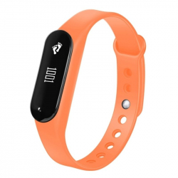 Bracelet Sport iOS Android Montre Connectée IP65 Bluetooth 4.0 Appel Cardio Orange