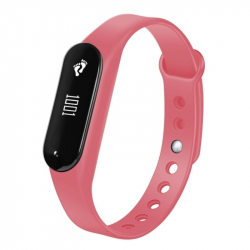 Bracelet Sport iOS Android Montre Connectée IP65 Bluetooth 4.0 Appel Cardio Rose