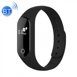 Bracelet intelligent iOS Android Montre Cardio Waterproof IP66 Noir