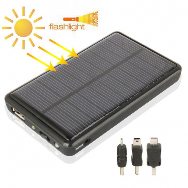 Batterie solaire universelle 5000 mAh iPhone Galaxy Lumia Xperia - Solaire - www.yonis-shop.com