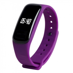 Montre Connectée Sport Android Iphone Bracelet Cardio Etanche Violet - Bracelet connecté - www.yonis-shop.com