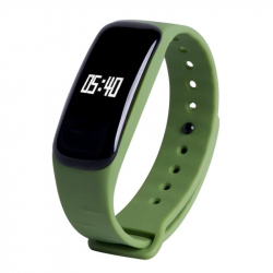 Montre Cardio Android IOS Smartwatch Podomètre Sommeil Fitness Vert