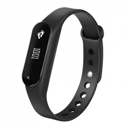 Bracelet Sport iOS Android Montre Connectée IP65 Bluetooth 4.0 Appel Cardio Noir