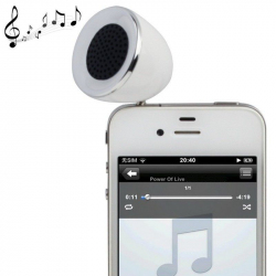 Mini enceinte portable jack 3.5 MP3 Smartphone Tablette Blanc - Enceinte portable - www.yonis-shop.com