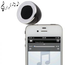 Mini enceinte portable jack 3.5 MP3 Smartphone Tablette Noir - Enceinte portable - www.yonis-shop.com