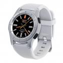Montre intelligente Compatible iOS Android 1.3 Pouces Tactile Smartwatch Cardio Podomètre Appel Blanc - Montre connectée - ww...