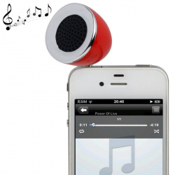 Mini enceinte portable jack 3.5 MP3 Smartphone Tablette Rouge - Enceinte portable - www.yonis-shop.com